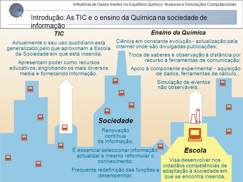 Influência de Gases Inertes no Equilíbrio Químico: Nuances e Simulações Computacionais Introdução: As TIC e o ensino da Química na sociedade de inform