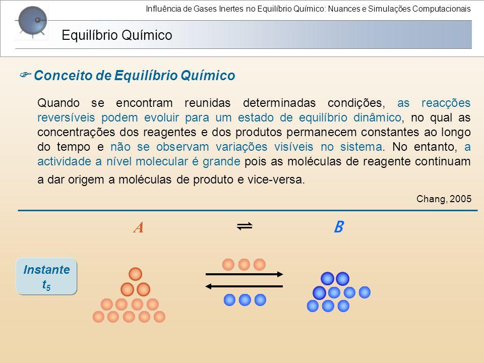 Influência de Gases Inertes no Equilíbrio Químico: Nuances e Simulações Computacionais Quando se encontram reunidas determinadas condições, as reacçõe