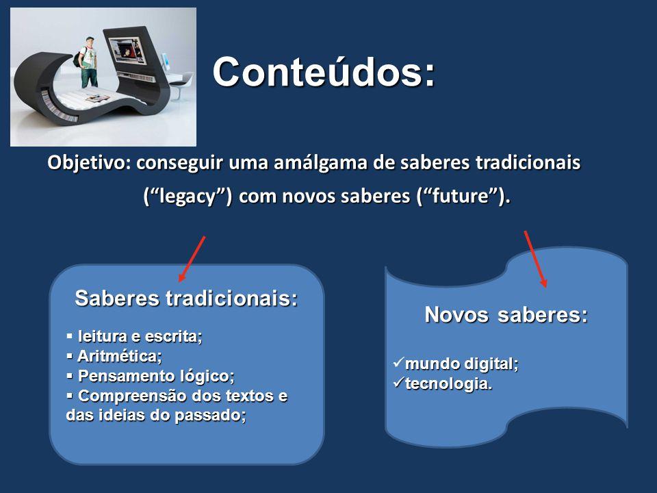 """Conteúdos: Objetivoconseguir uma amálgama de saberes tradicionais Objetivo: conseguir uma amálgama de saberes tradicionais (""""legacy"""") com novos sabere"""