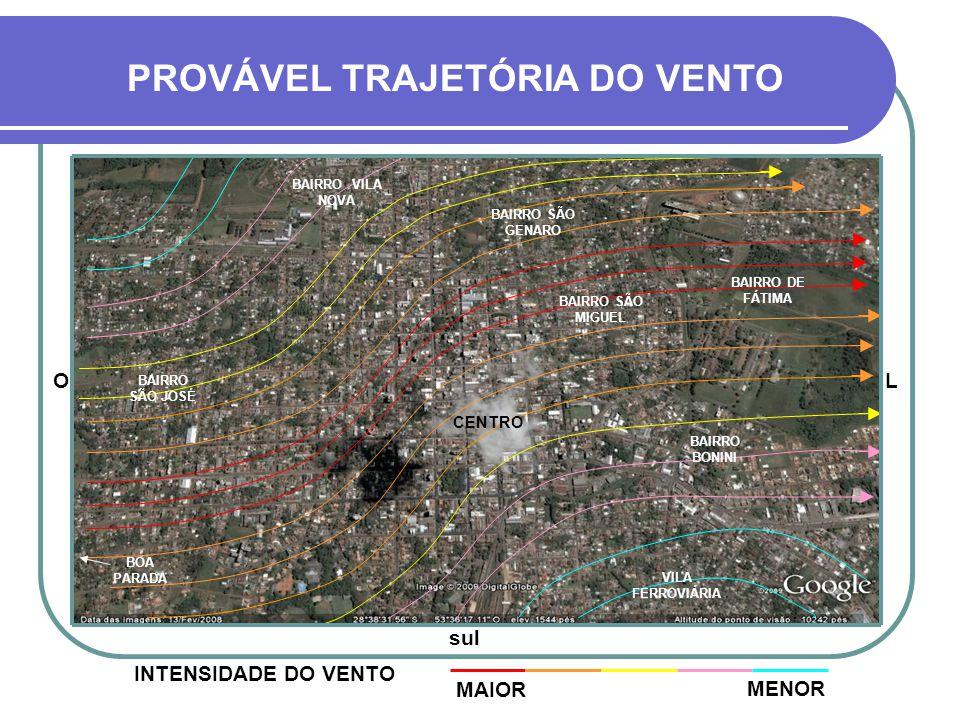 PERÍMETRO URBANO DE CRUZ ALTA FOTO DE SATÉLITE DA REGIÃO ATINGIDA BAIRRO DE FÁTIMA BAIRRO VILA NOVA OL sul BOA PARADA CENTRO BAIRRO SÃO MIGUEL BAIRRO