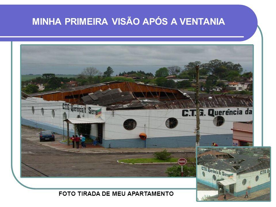 MUITOS DANOS MATERIAIS Praça do Ginásio Escola