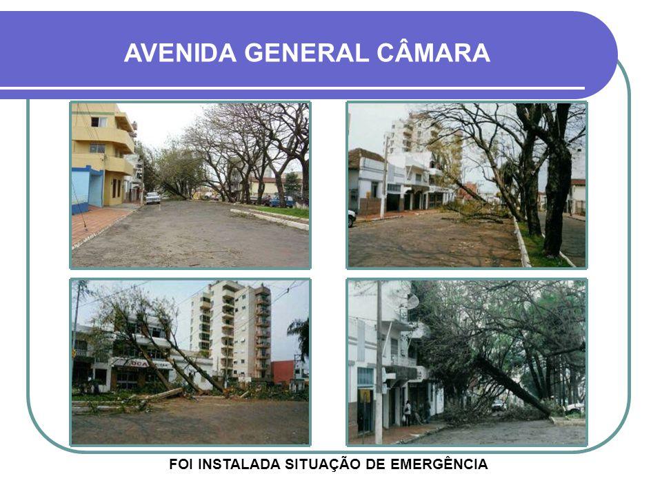 FOI INSTALADA SITUAÇÃO DE EMERGÊNCIA AVENIDA GENERAL CÂMARA