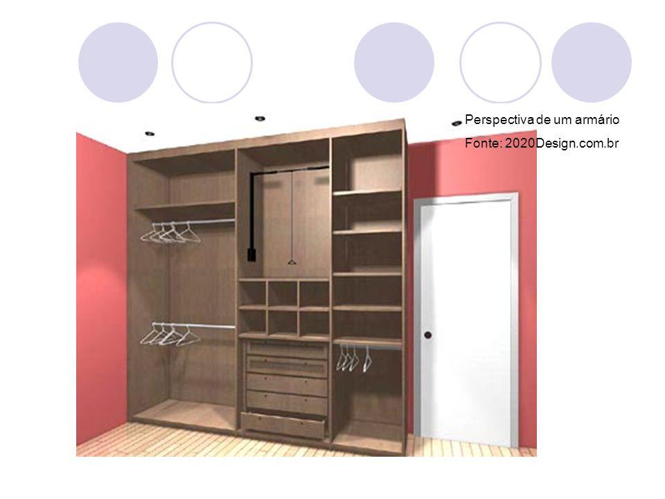 Perspectiva de um armário Fonte: 2020Design.com.br