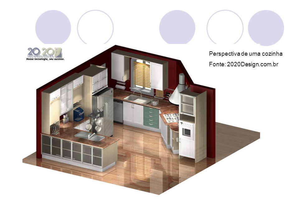 Perspectiva de uma cozinha Fonte: 2020Design.com.br
