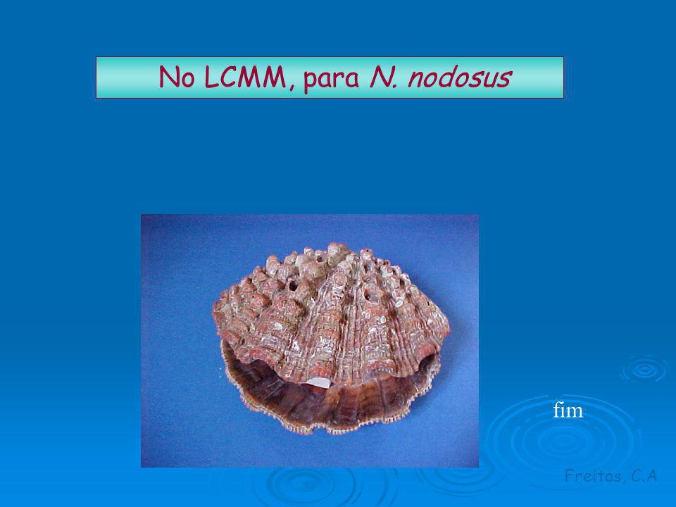 No LCMM, para N. nodosus Freitas, C.A fim
