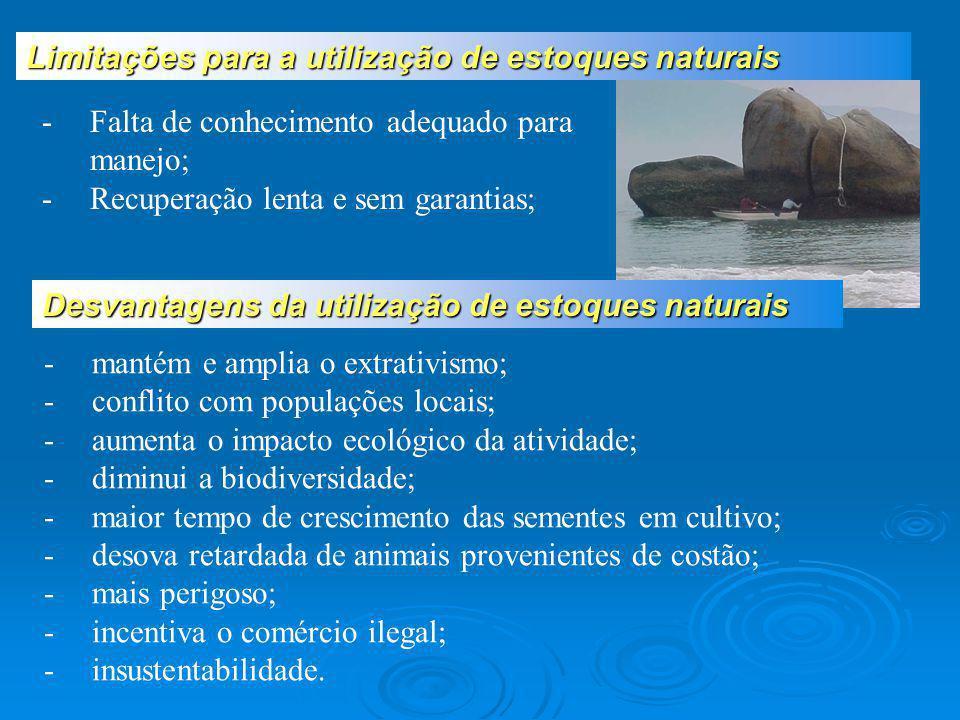 -mantém e amplia o extrativismo; -conflito com populações locais; -aumenta o impacto ecológico da atividade; -diminui a biodiversidade; -maior tempo d