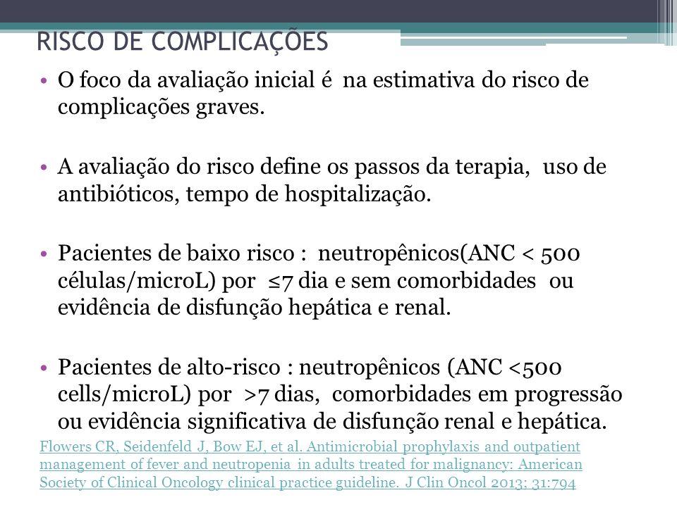 Importante reconhecer neutropenia febril precocemente e iniciar terapia antibacteriana empírica sistemática prontamente, para evitar progressão de sepse ou morte.