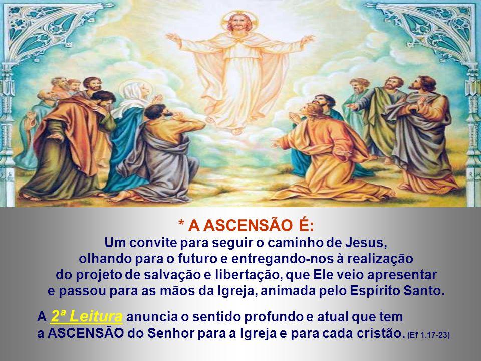 A 1ª Leitura sublinha a Vinda do Espírito Santo e o Testemunho dos discípulos