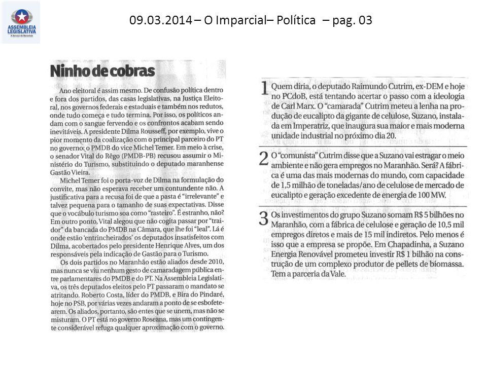 09.03.2014 – Jornal Pequeno – Economia – pag. 04