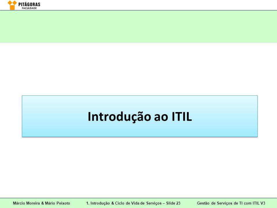 Márcio Moreira & Mário Peixoto1. Introdução & Ciclo de Vida de Serviços – Slide 23 Gestão de Serviços de TI com ITIL V3 Introdução ao ITIL