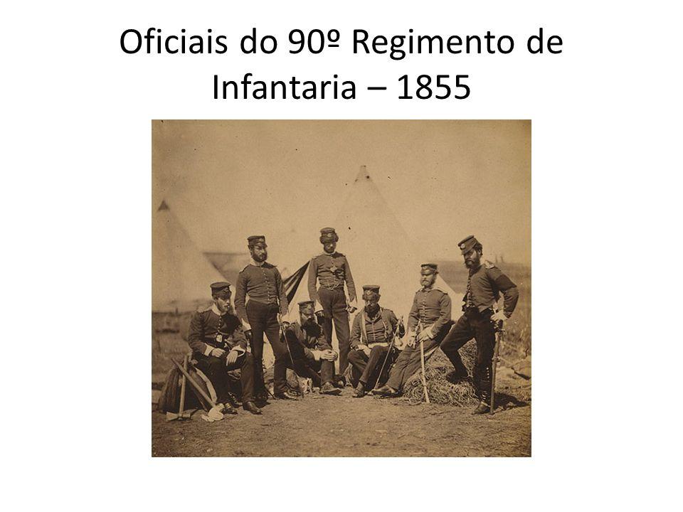 Oficiais do 90º Regimento de Infantaria – 1855