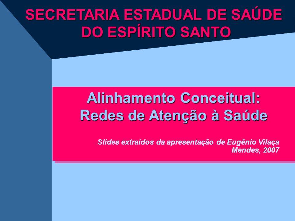 SECRETARIA ESTADUAL DE SAÚDE DO ESPÍRITO SANTO Alinhamento Conceitual: Redes de Atenção à Saúde Alinhamento Conceitual: Redes de Atenção à Saúde Slide