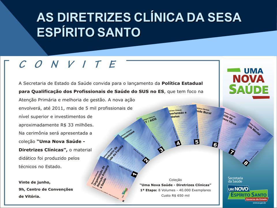 AS DIRETRIZES CLÍNICA DA SESA ESPÍRITO SANTO