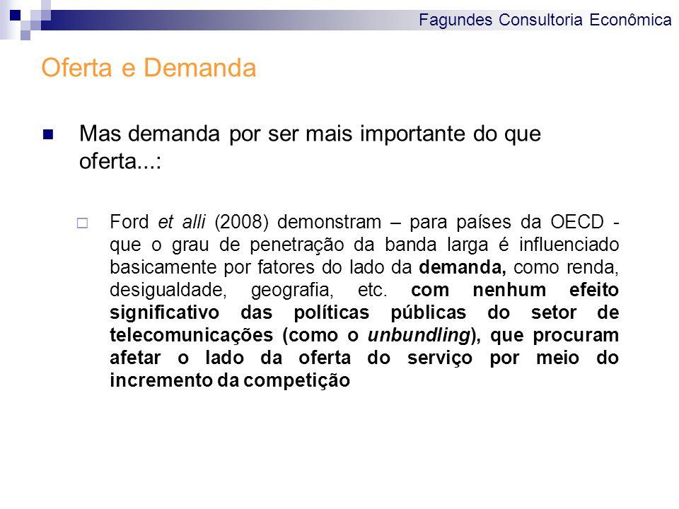 Fagundes Consultoria Econômica Oferta e Demanda Mas demanda por ser mais importante do que oferta...:  Ford et alli (2008) demonstram – para países d