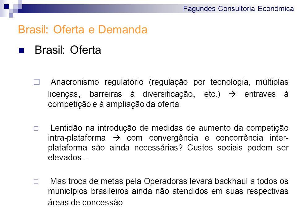 Fagundes Consultoria Econômica Brasil: Oferta e Demanda Brasil: Oferta  Anacronismo regulatório (regulação por tecnologia, múltiplas licenças, barrei