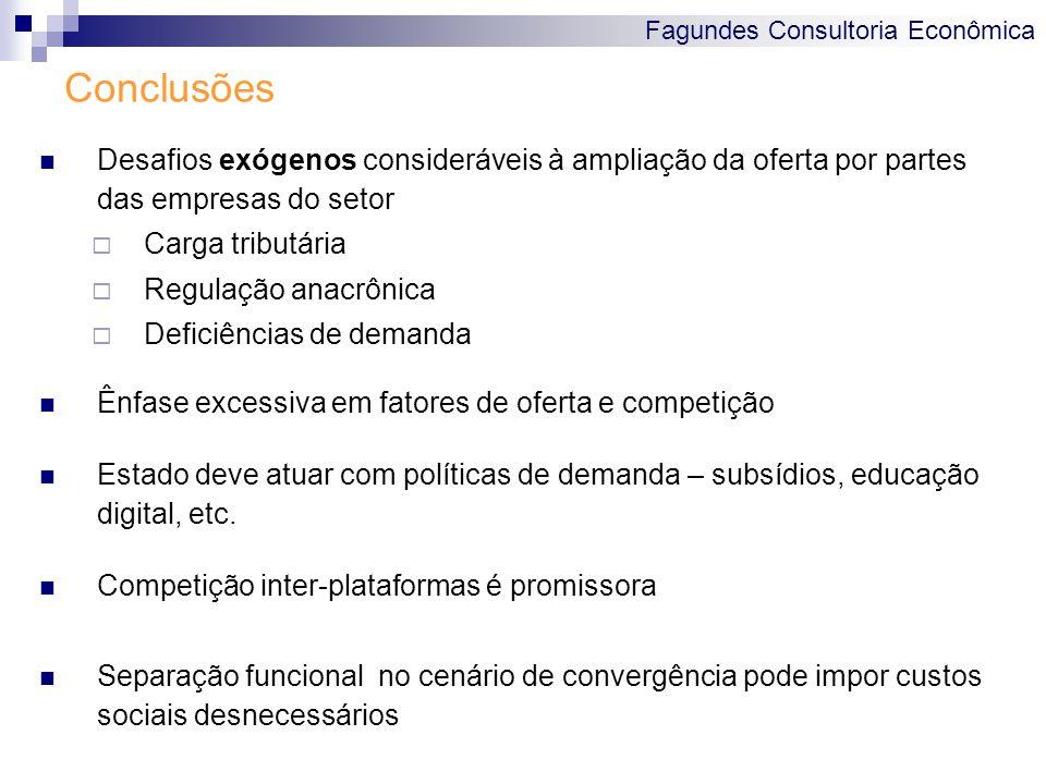 Fagundes Consultoria Econômica Conclusões Desafios exógenos consideráveis à ampliação da oferta por partes das empresas do setor  Carga tributária 