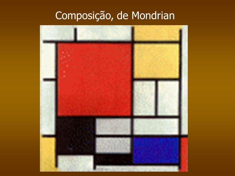 Composição, de Mondrian