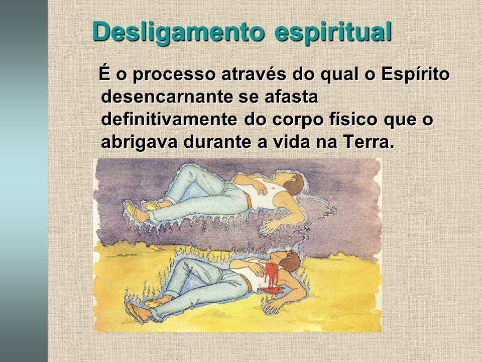 Desligamento espiritual É o processo através do qual o Espírito desencarnante se afasta definitivamente do corpo físico que o abrigava durante a vida na Terra.