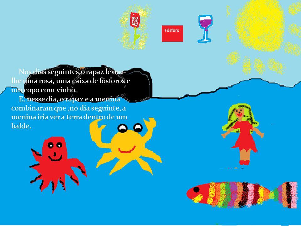 E a Menina queria voltar para a beira dos seus amigos e, por isso, gritou imenso, mas depois acalmou-se: -Eu só quero saber como é o fundo do mar, ond