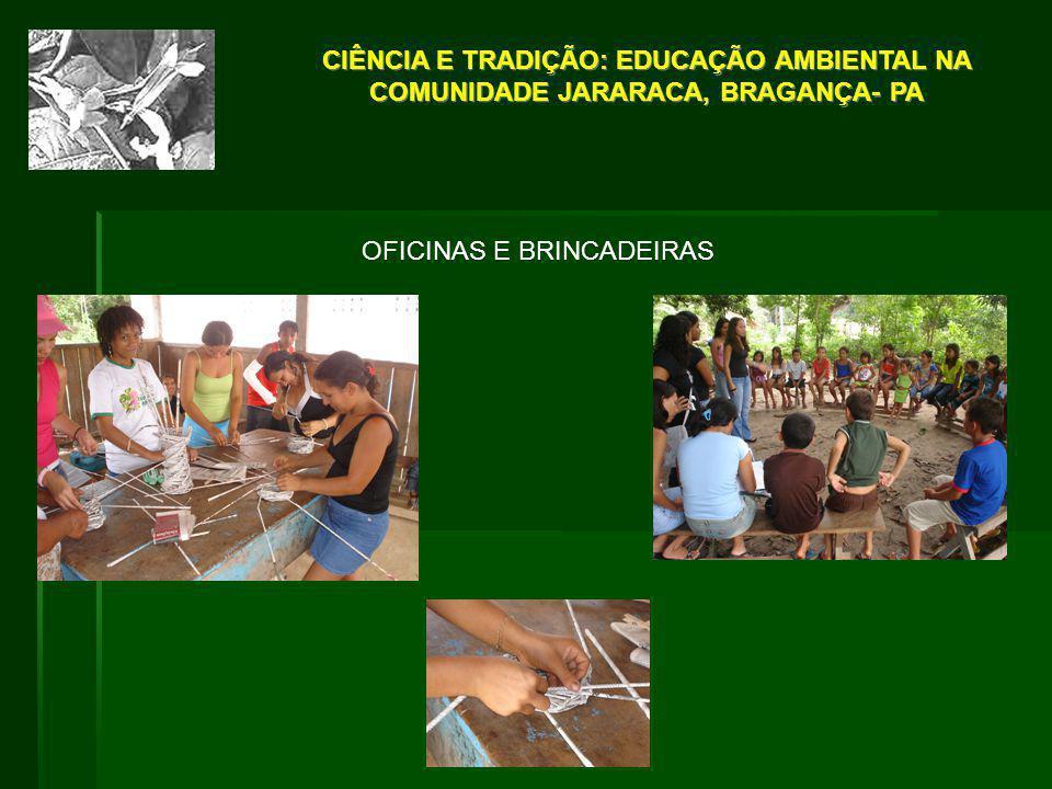 OFICINAS E BRINCADEIRAS CIÊNCIA E TRADIÇÃO: EDUCAÇÃO AMBIENTAL NA COMUNIDADE JARARACA, BRAGANÇA- PA