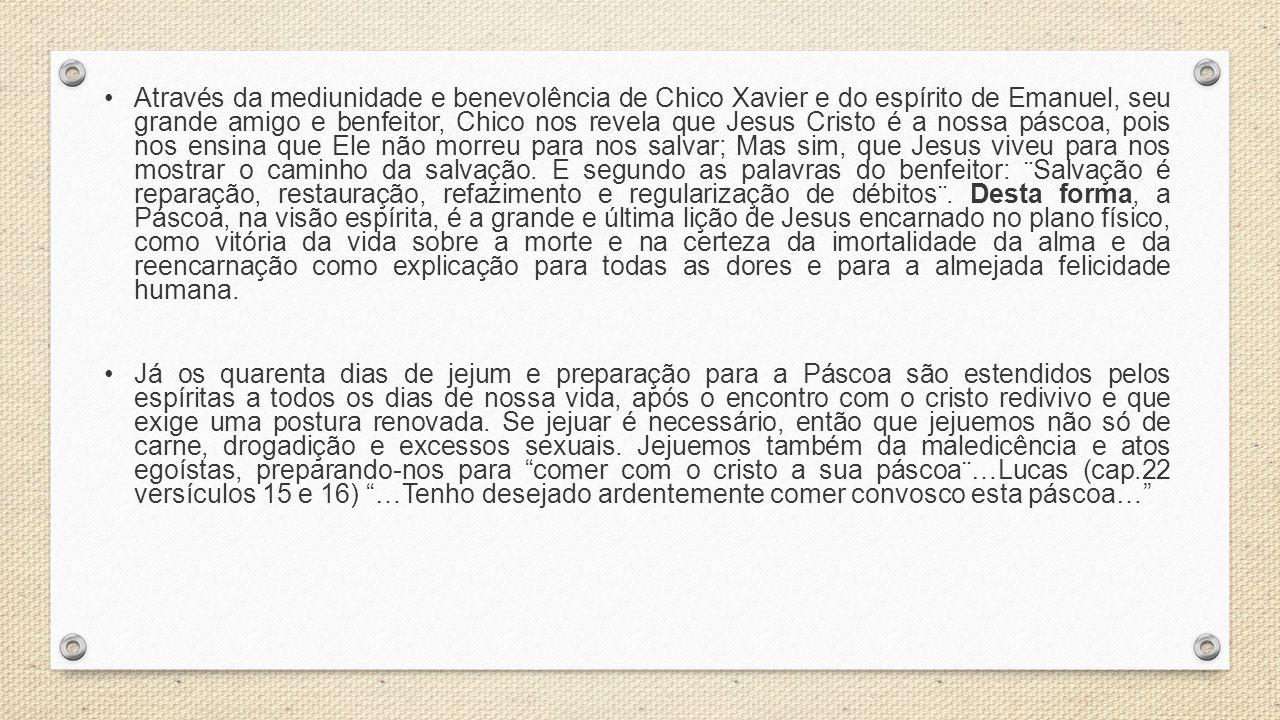 Através da mediunidade e benevolência de Chico Xavier e do espírito de Emanuel, seu grande amigo e benfeitor, Chico nos revela que Jesus Cristo é a no