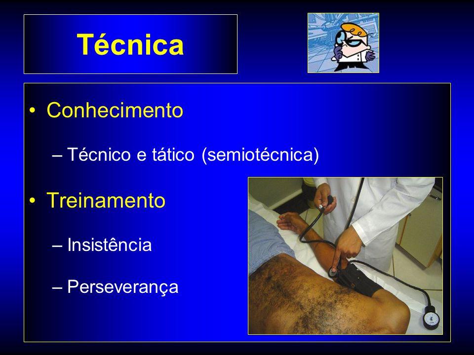 Técnica Conhecimento –Técnico e tático (semiotécnica) Treinamento –Insistência –Perseverança