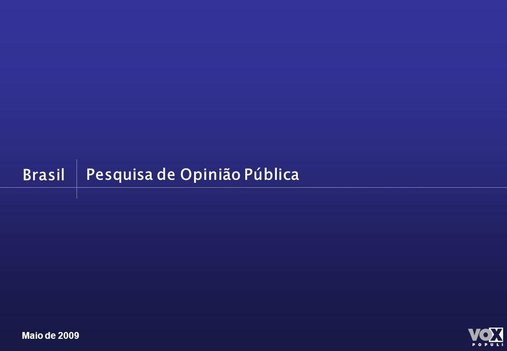 Maio de 2009 Brasil Pesquisa de Opinião Pública