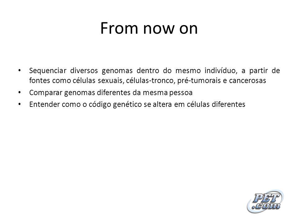 From now on Sequenciar diversos genomas dentro do mesmo indivíduo, a partir de fontes como células sexuais, células-tronco, pré-tumorais e cancerosas