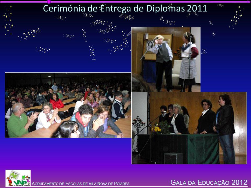 G ALA DA E DUCAÇÃO 2012 A GRUPAMENTO DE E SCOLAS DE V ILA N OVA DE P OIARES Cerimónia de Entrega de Diplomas 2011