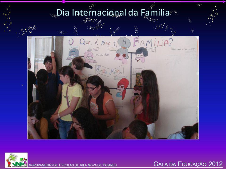 G ALA DA E DUCAÇÃO 2012 A GRUPAMENTO DE E SCOLAS DE V ILA N OVA DE P OIARES Dia Internacional da Família