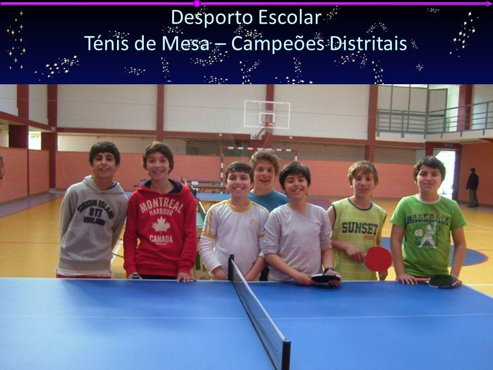 G ALA DA E DUCAÇÃO 2012 A GRUPAMENTO DE E SCOLAS DE V ILA N OVA DE P OIARES Desporto Escolar Ténis de Mesa – Campeões Distritais