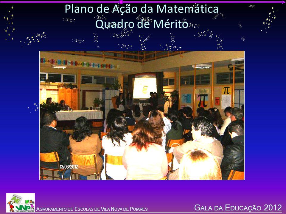 G ALA DA E DUCAÇÃO 2012 A GRUPAMENTO DE E SCOLAS DE V ILA N OVA DE P OIARES Plano de Ação da Matemática Quadro de Mérito