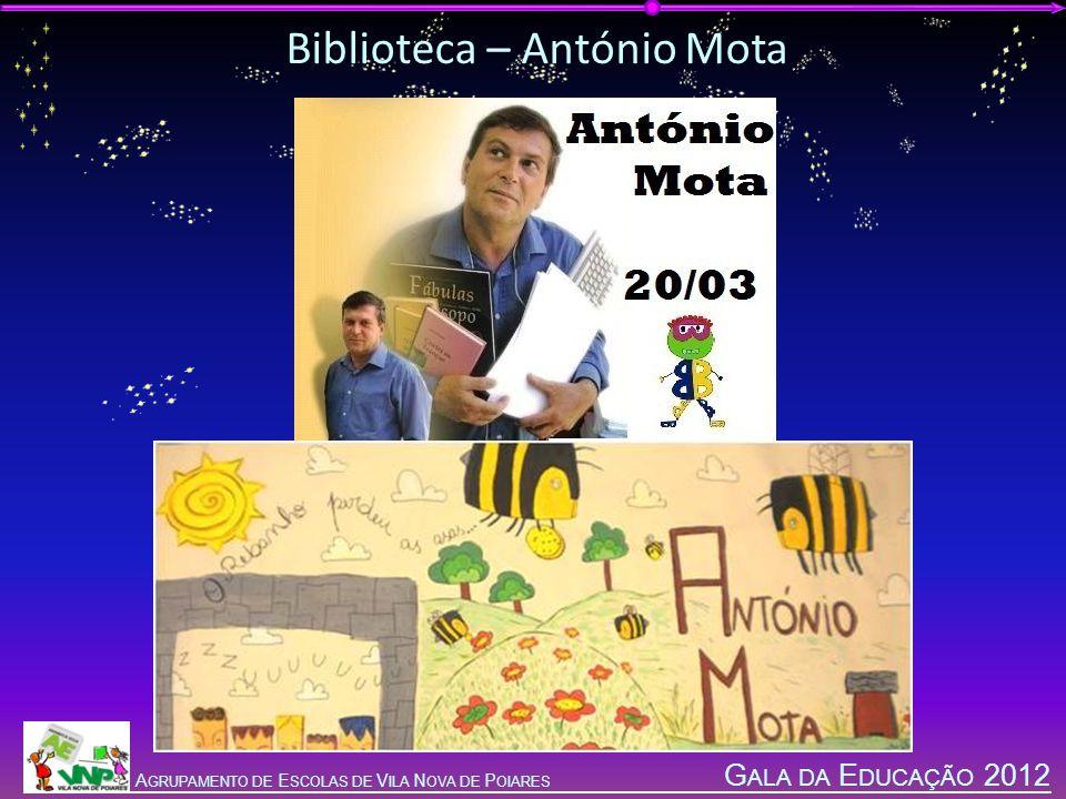 G ALA DA E DUCAÇÃO 2012 A GRUPAMENTO DE E SCOLAS DE V ILA N OVA DE P OIARES Biblioteca – António Mota