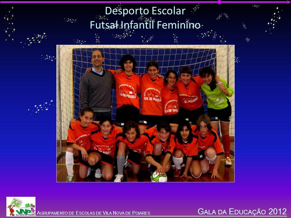 G ALA DA E DUCAÇÃO 2012 A GRUPAMENTO DE E SCOLAS DE V ILA N OVA DE P OIARES Desporto Escolar Futsal Infantil Feminino