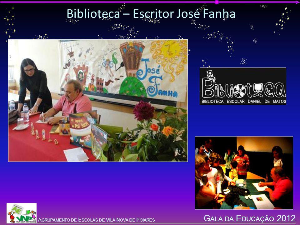 G ALA DA E DUCAÇÃO 2012 A GRUPAMENTO DE E SCOLAS DE V ILA N OVA DE P OIARES Biblioteca – Escritor José Fanha