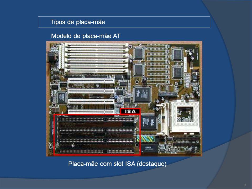 9 Tipos de placa-mãe Modelo de placa-mãe AT Placa-mãe com slot ISA (destaque)