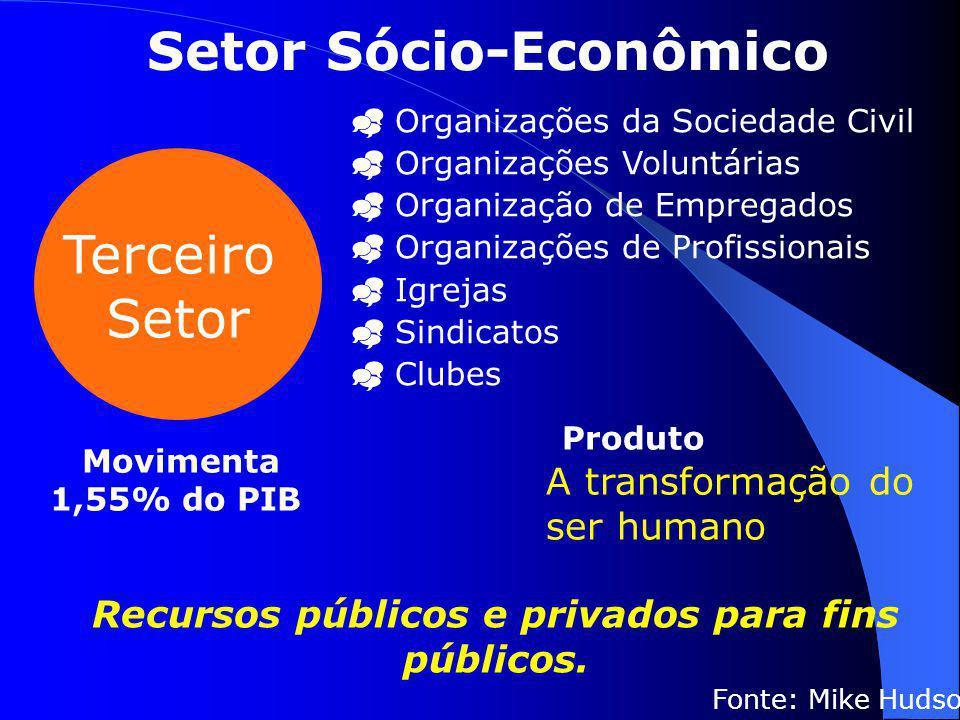 Terceiro Setor  Organizações da Sociedade Civil  Organizações Voluntárias  Organização de Empregados  Organizações de Profissionais  Igrejas  Si