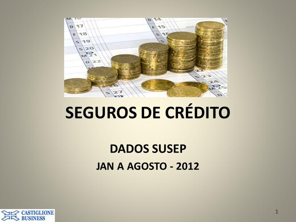 SEGUROS DE CRÉDITO DADOS SUSEP JAN A AGOSTO - 2012 1