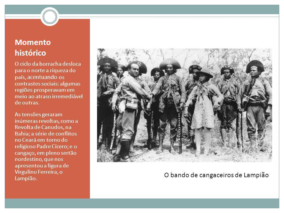 Momento histórico A capital, Rio de Janeiro, sangrava seus problemas sociais.