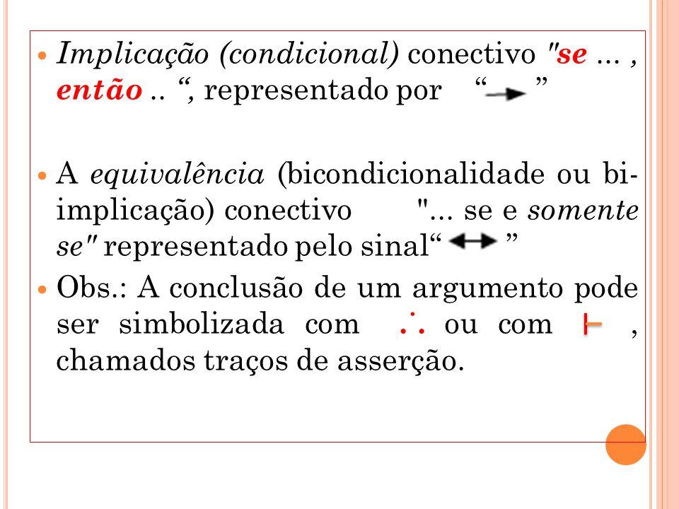 Implicação (condicional) conectivo