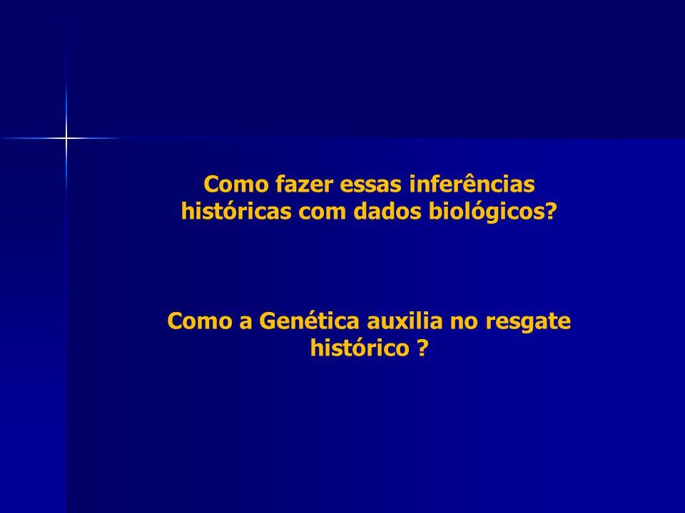 Como fazer essas inferências históricas com dados biológicos? Como a Genética auxilia no resgate histórico ?