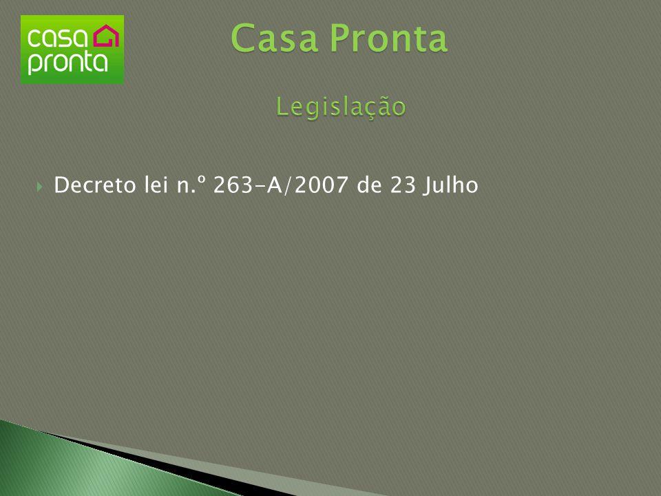  Decreto lei n.º 263-A/2007 de 23 Julho