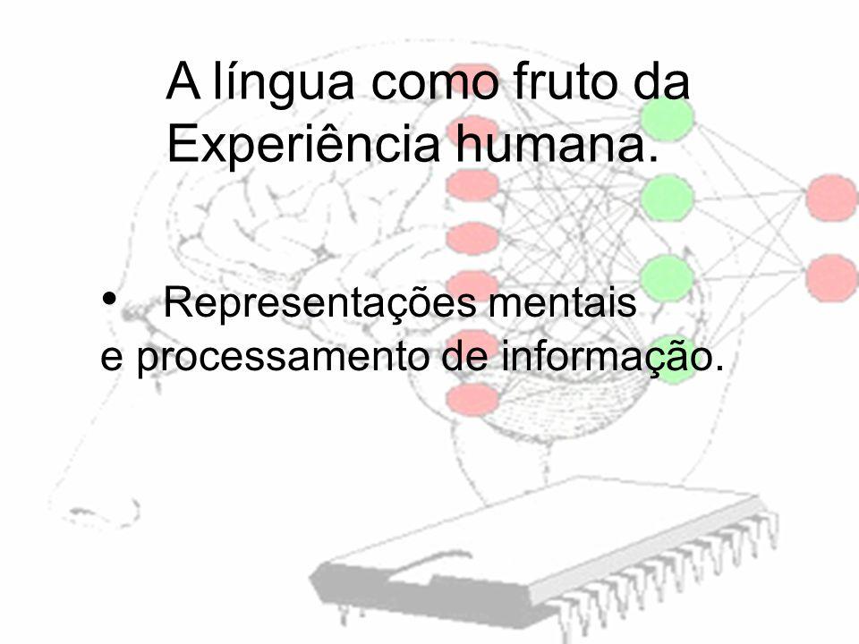 Representações mentais e processamento de informação. A língua como fruto da Experiência humana.