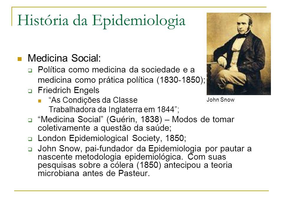 """História da Epidemiologia Medicina Social:  Política como medicina da sociedade e a medicina como prática política (1830-1850);  Friedrich Engels """"A"""