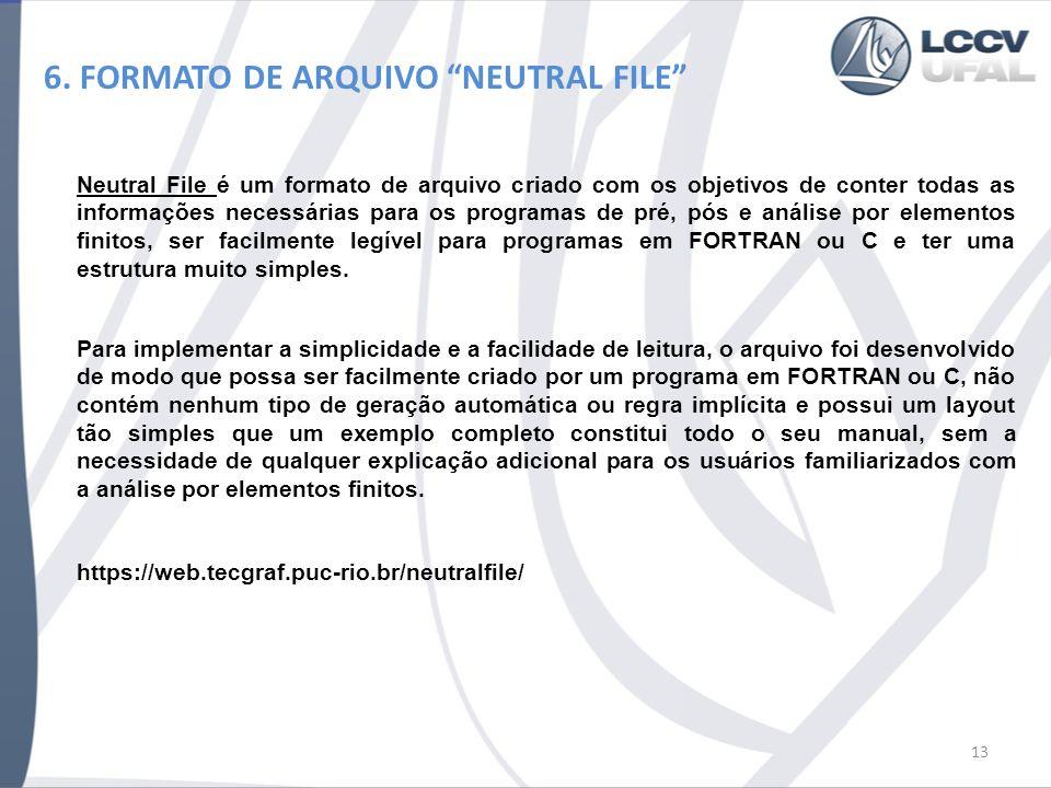 6. FORMATO DE ARQUIVO NEUTRAL FILE 14