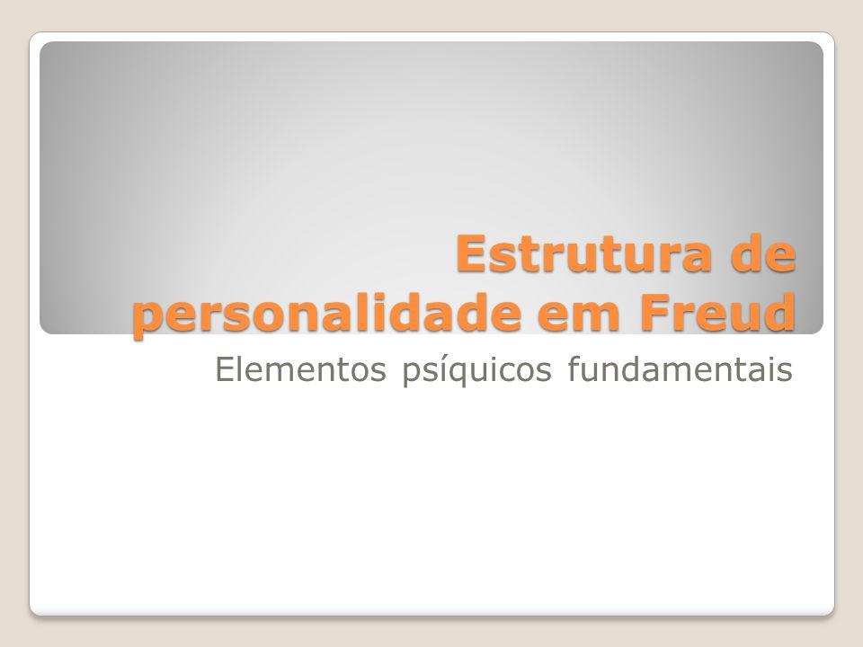Estrutura de personalidade em Freud Elementos psíquicos fundamentais