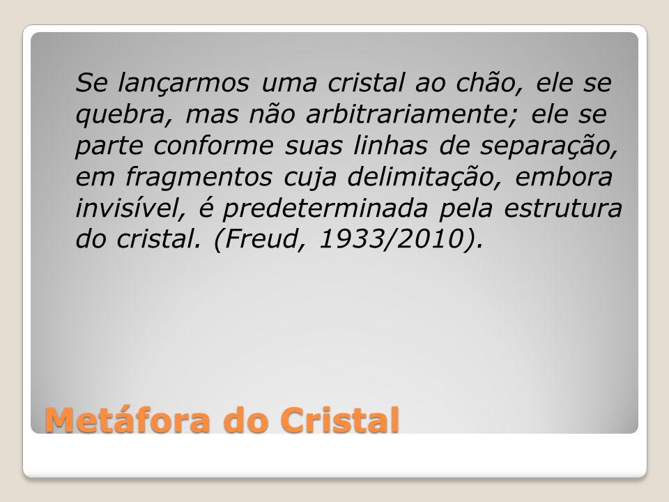 Metáfora do Cristal Se lançarmos uma cristal ao chão, ele se quebra, mas não arbitrariamente; ele se parte conforme suas linhas de separação, em fragm