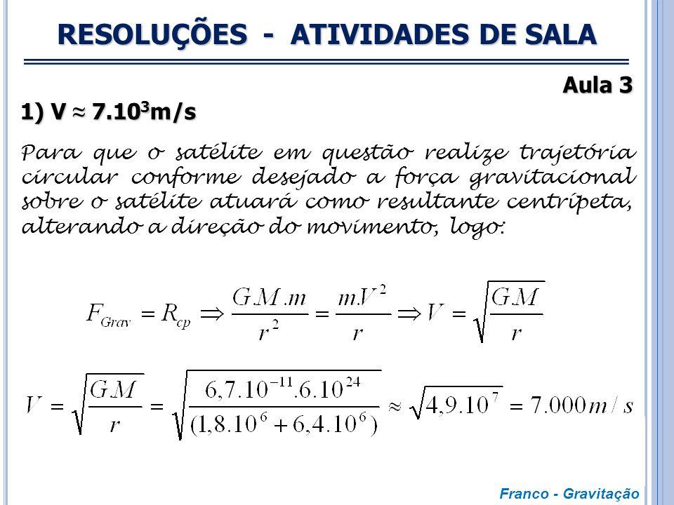 RESOLUÇÕES - ATIVIDADES DE SALA Aulas 1 e 2 4) x = 54.R Para que as atrações gravitacionais exercidas pela Terra e Lua sobre a nave anulem-se é necess