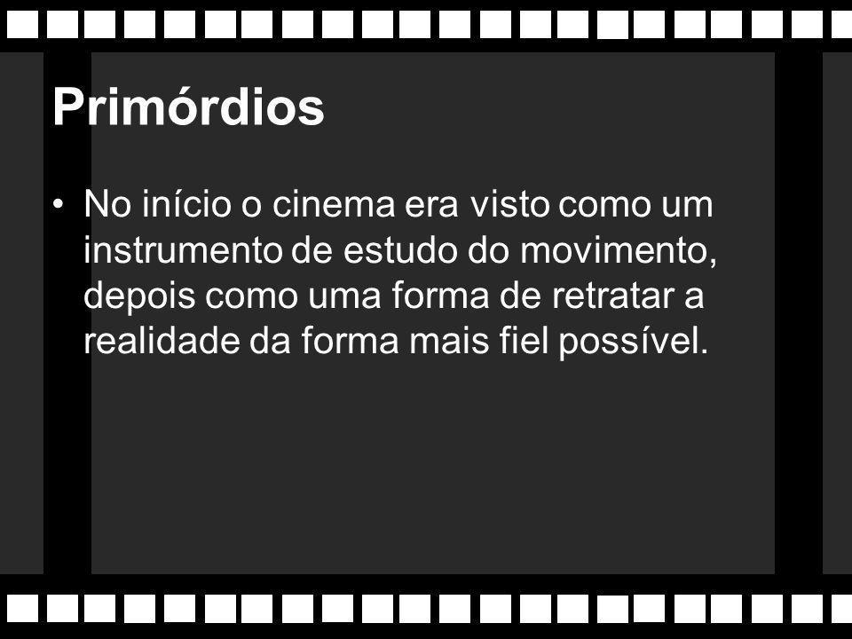 O que é Cinema? Captação de 24 fotos por segundo (fotogramas) que depois são reproduzidas no mesmo ritmo, e dão a sensação de movimento ao olho humano
