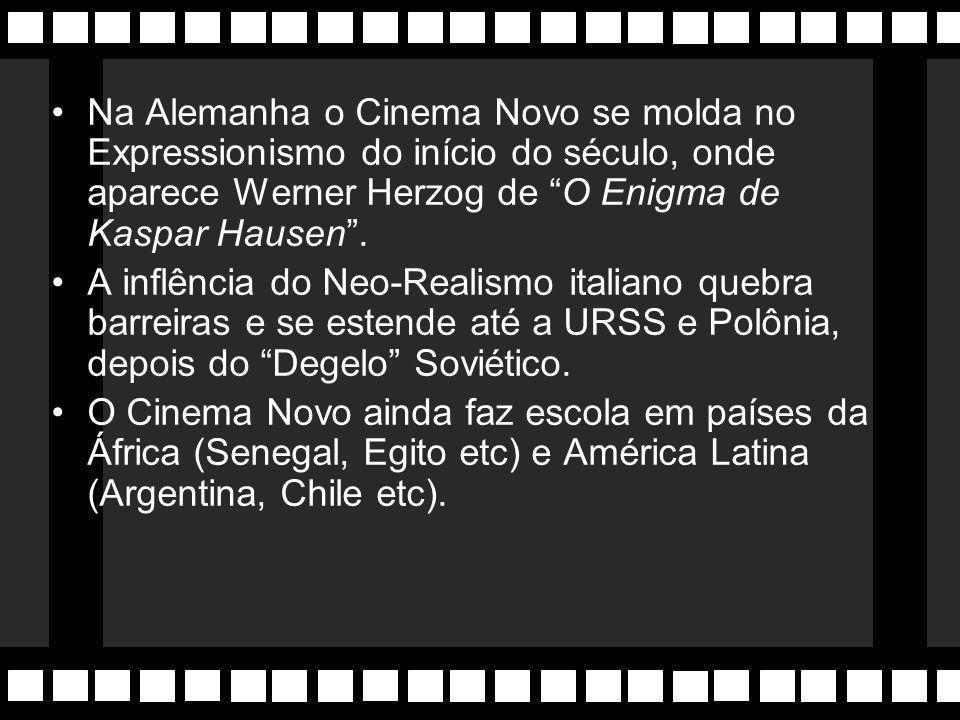 Cinema Novo Expressão do Neo-Realismo que aparece na Europa do pós-guerra (1945). Nasce na Itália, onde a linguagem busca abordar o dia-a-dia do plore